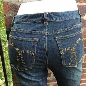 Liz Claiborne Women's Blue Embroidered Jeans 6P
